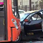 Delincuentes roban bus del Transantiago y provocan grave choque en Autopista Vespucio