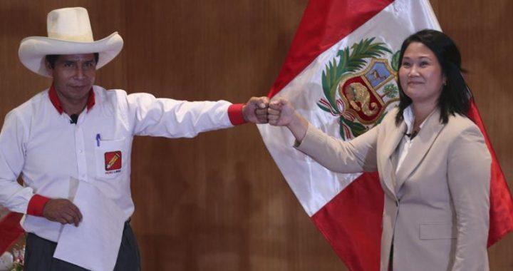 Perú elige hoy entre la derechista Keiko Fujimori y el izquierdista Pedro Castillo