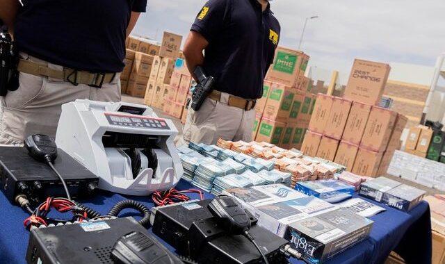Con 70 mil cartones de cigarrillos de contrabando es detenida banda que operaba en la zona norte y centro del país