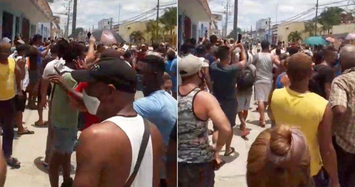 ¡No más mentiras! ¡Qué renuncien!, gritan centenares de cubanos en las calles de Palma Soriano