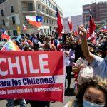 """""""¡Fuera ilegales!"""": Marcha contra inmigración ilegal en Iquique"""